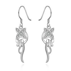 Vienna Jewelry Sterling Silver Drop Pendant Drop Earring - Thumbnail 0