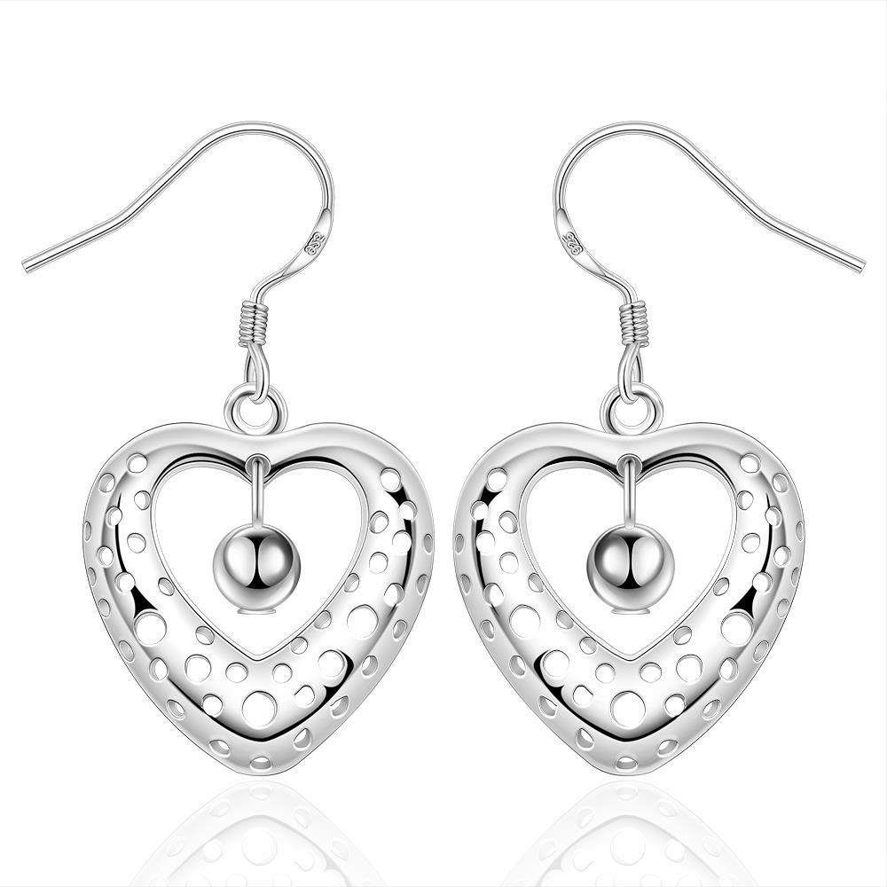 Vienna Jewelry Sterling Silver Petite Heart Shaped Earring