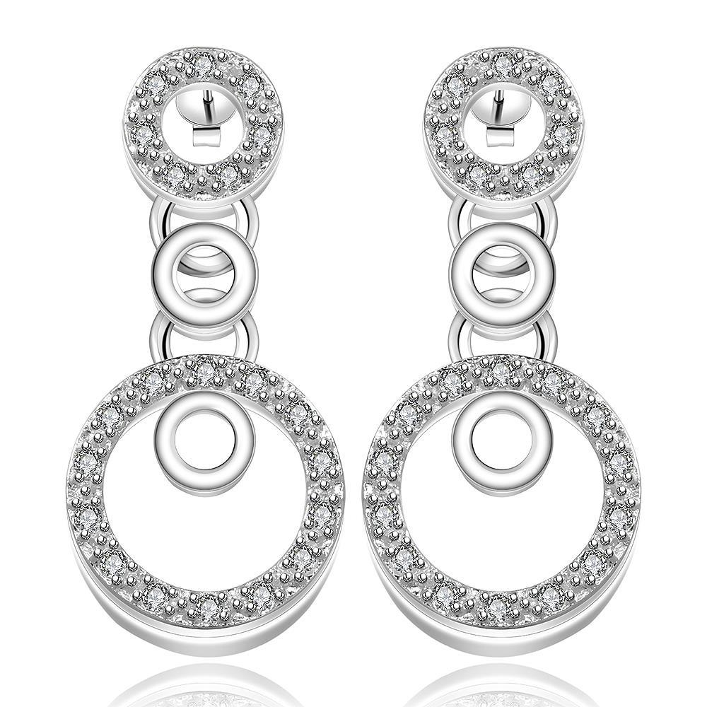 Vienna Jewelry Sterling Silver Circular Drop Drop Earring