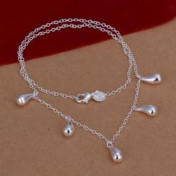 Vienna Jewelry Sterling Silver Multi-Tear Drop Necklace - Thumbnail 0