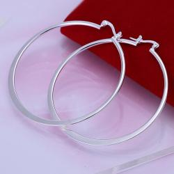 Vienna Jewelry Sterling Silver Classical Twisted Hoops - Thumbnail 0