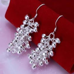 Vienna Jewelry Sterling Silver Full Fill Orchid Drop Earring - Thumbnail 0