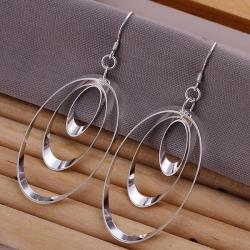 Vienna Jewelry Sterling Silver Drop Circular Earring - Thumbnail 0