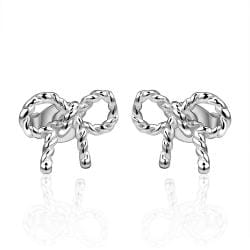Vienna Jewelry Sterling Silver Intertwined Knot Stud Earring - Thumbnail 0