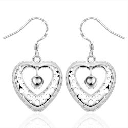 Vienna Jewelry Sterling Silver Petite Heart Shaped Earring - Thumbnail 0