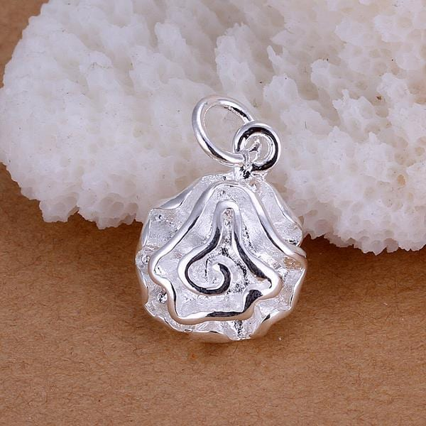 Vienna Jewelry Sterling Silver Blossoming Floral Pendant