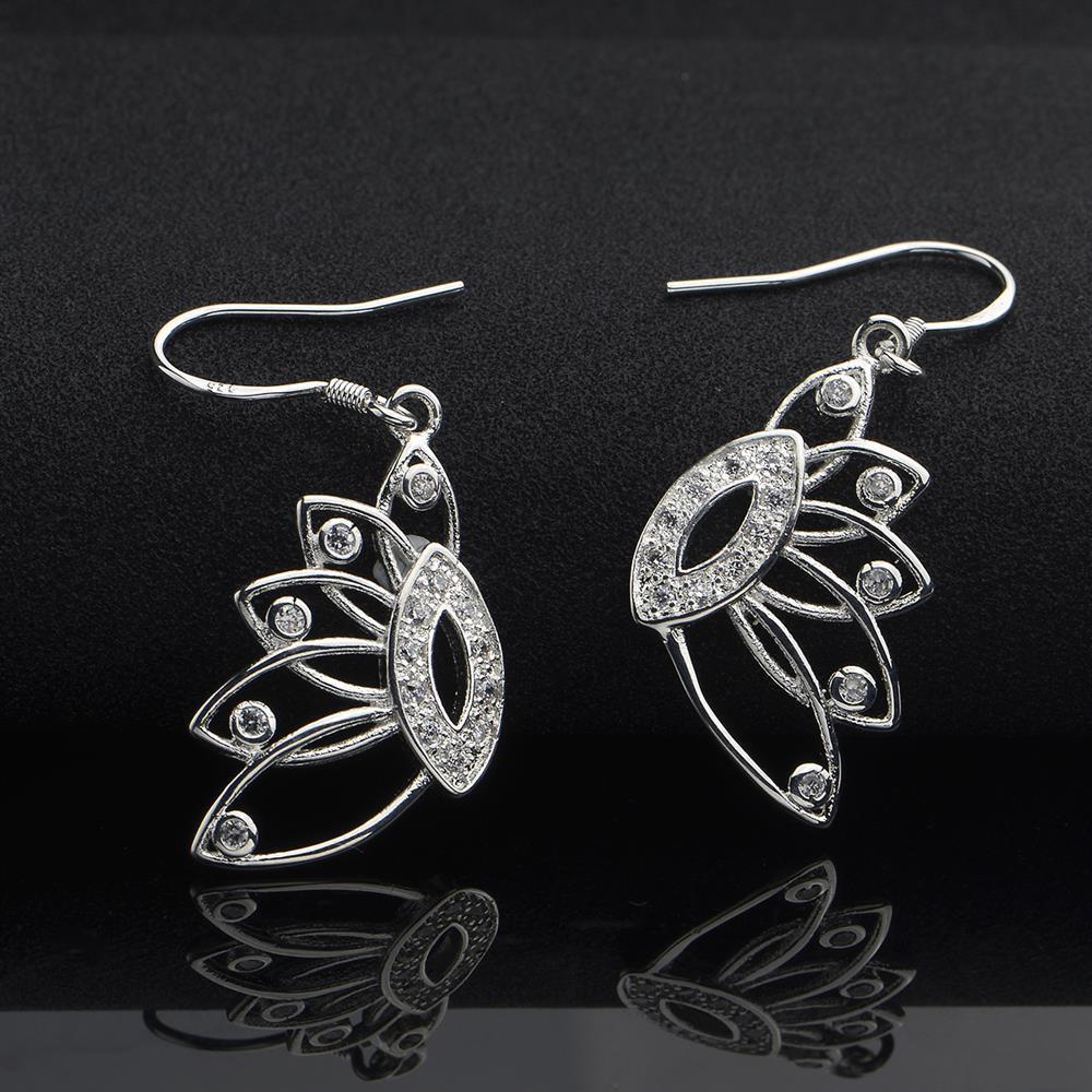 Vienna Jewelry Sterling Silver Laser Cut Hollow Bird's Wings Drop Earring