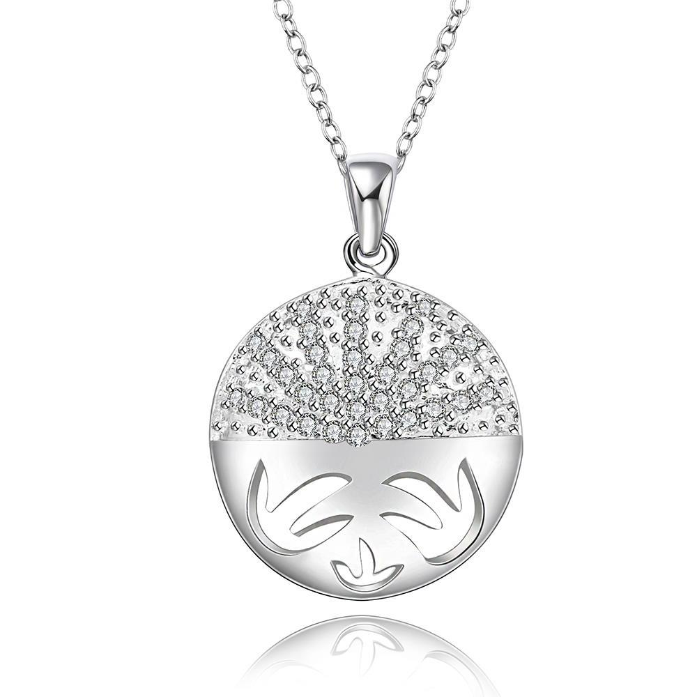 Vienna Jewelry Sterling Silver Kitty Cat Emblem Pendant Necklace