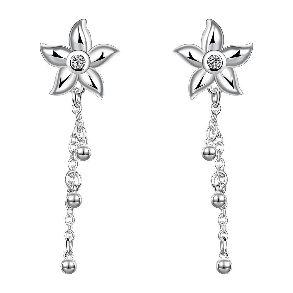 Vienna Jewelry Sterling Silver Starfish Pendant Drop Earring