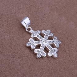 Vienna Jewelry Sterling Silver Petite Snowflake Pendant - Thumbnail 0