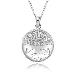 Vienna Jewelry Sterling Silver Kitty Cat Emblem Pendant Necklace - Thumbnail 0