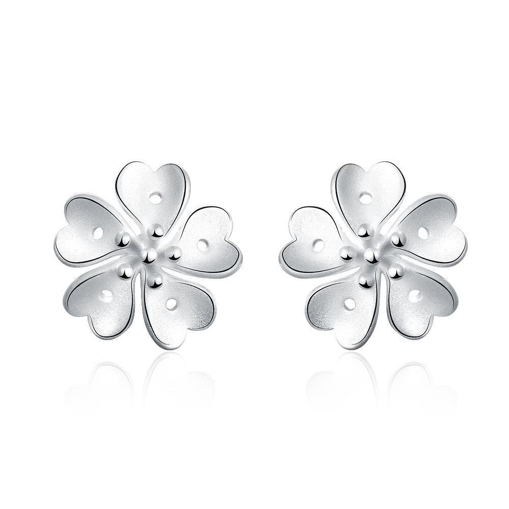 Vienna Jewelry Sterling Silver Petite Irish Clover Stud Earring