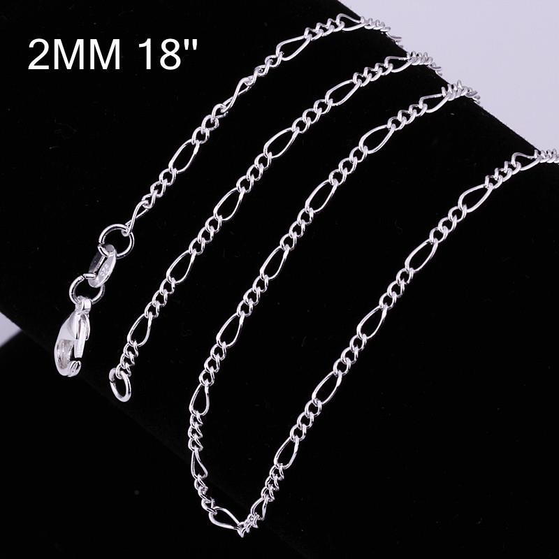 Vienna Jewelry Sterling Silver Mid-Size Chain Necklace