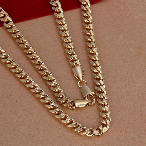 Vienna Jewelry Sterling Silver Gold Coloring Classic Necklace