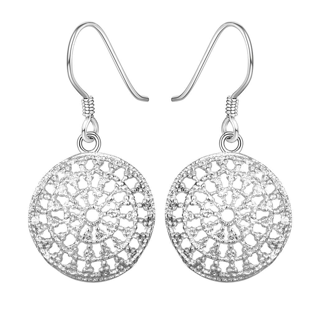 Vienna Jewelry Sterling Silver Circular Pendant Earring