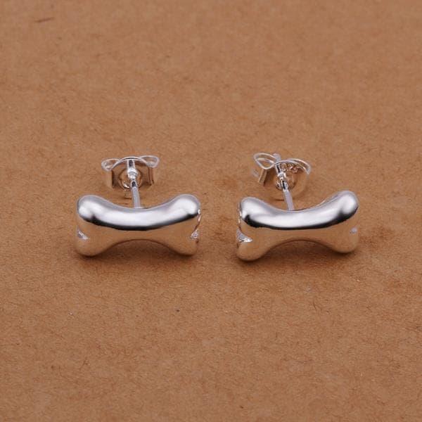 Vienna Jewelry Sterling Silver Wishbone Dog Stud Earring