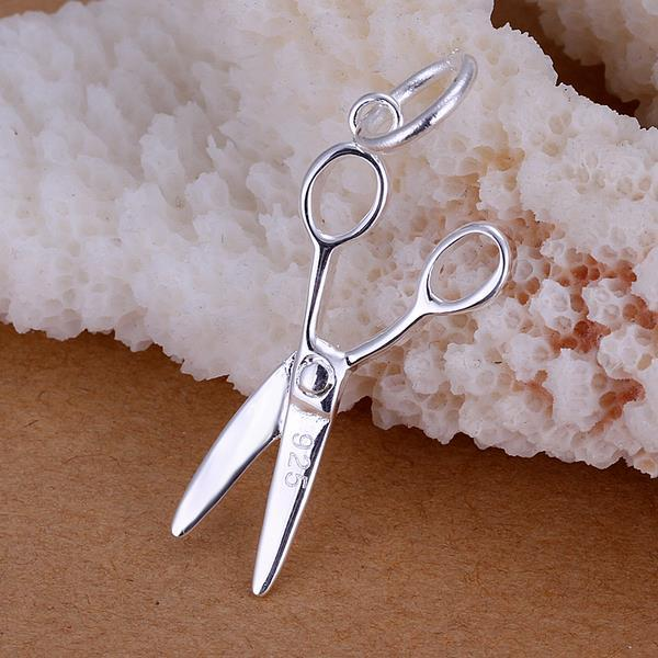 Vienna Jewelry Sterling Silver Petite Scissors Pendant