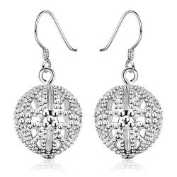 Vienna Jewelry Sterling Silver Laser Cut Swirl Design Drop Earring - Thumbnail 0