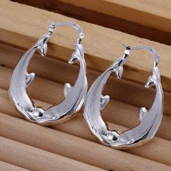 Vienna Jewelry Sterling Silver Abstract Ancient Hoops - Thumbnail 0