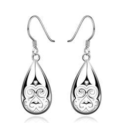 Vienna Jewelry Sterling Silver Laser Cut Drop Earring - Thumbnail 0
