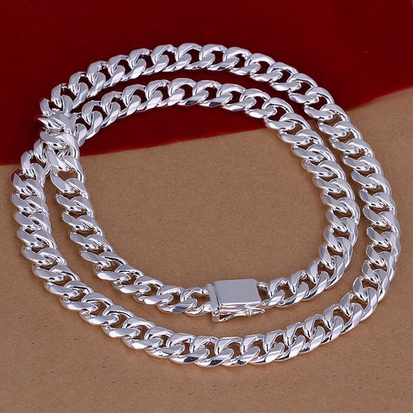 Vienna Jewelry Sterling Silver Classic New York Inspired Chain Necklace