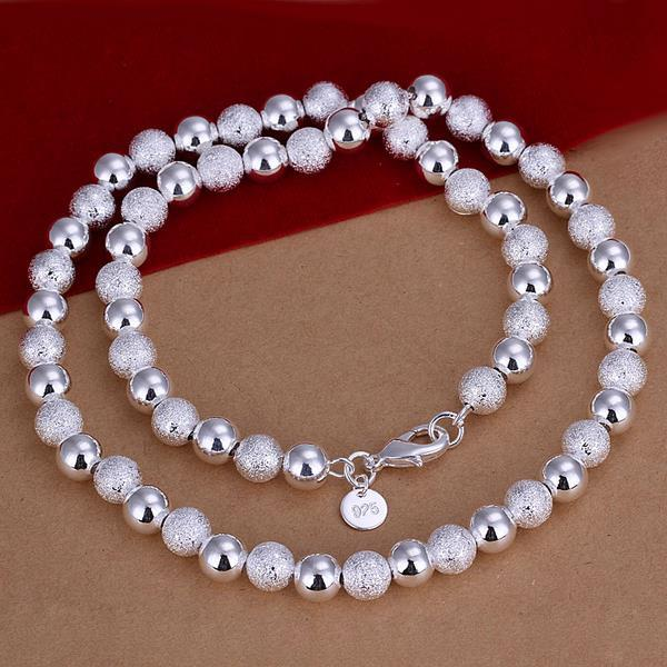 Vienna Jewelry Sterling Silver Pearl & Bead Necklace