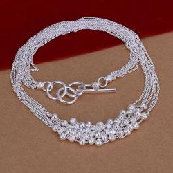 Vienna Jewelry Sterling Silver Thick Pearl Orchid Necklace - Thumbnail 0