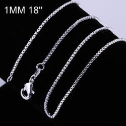 Vienna Jewelry Sterling Silver Modern Marina Inspired Chain Necklace - Thumbnail 0