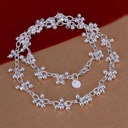 Vienna Jewelry Sterling Silver Multi Pearl Orchid Necklace - Thumbnail 0