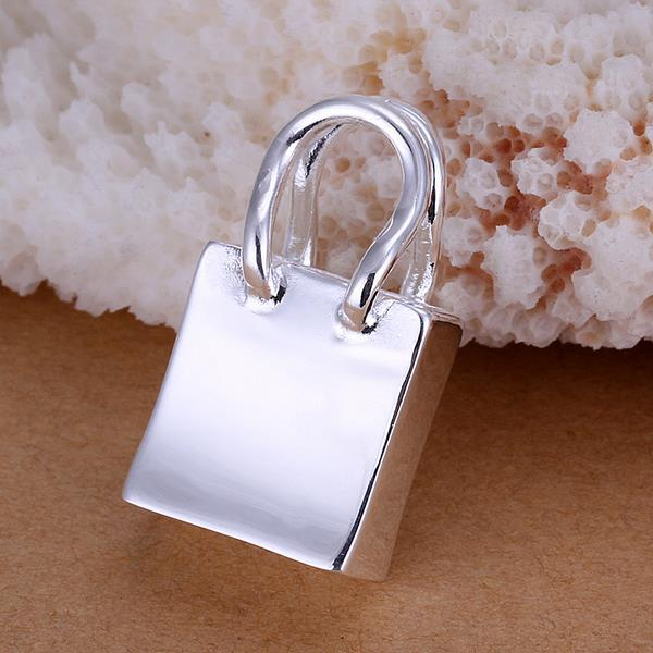 Vienna Jewelry Sterling Silver Petite Shopping Bag Pendant