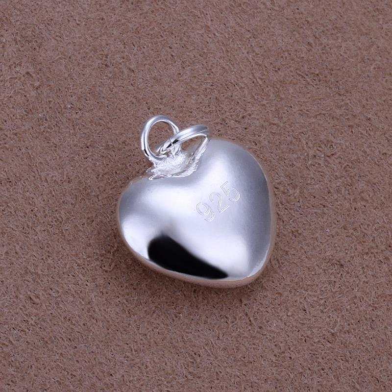 Vienna Jewelry Sterling Silver Mini Petite Heart Pendant