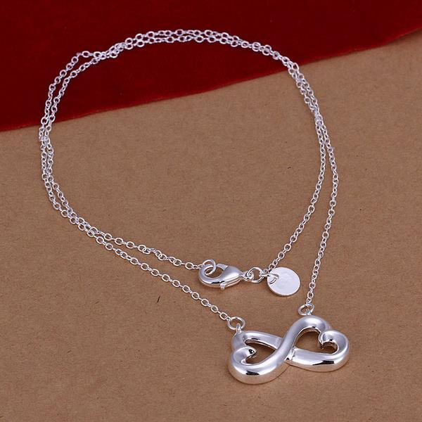 Vienna Jewelry Sterling Silver Thick Infinite Emblem Necklace