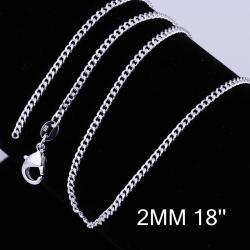 Vienna Jewelry Sterling Silver Mini Petite Chain Necklace - Thumbnail 0