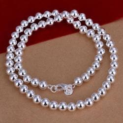 Vienna Jewelry Sterling Silver Multi Bead Insert Necklace - Thumbnail 0