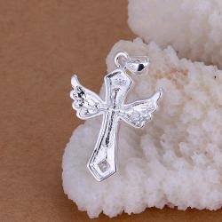 Vienna Jewelry Sterling Silver Dangling Cross Pendant - Thumbnail 0