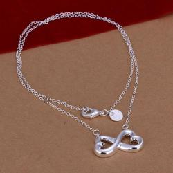Vienna Jewelry Sterling Silver Thick Infinite Emblem Necklace - Thumbnail 0