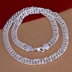Vienna Jewelry Sterling Silver Multi-Chain Connected Necklace - Thumbnail 0