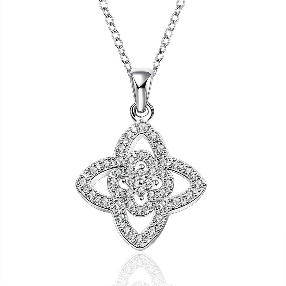 Vienna Jewelry Sterling Silver Multi Star Shaped Drop Necklace