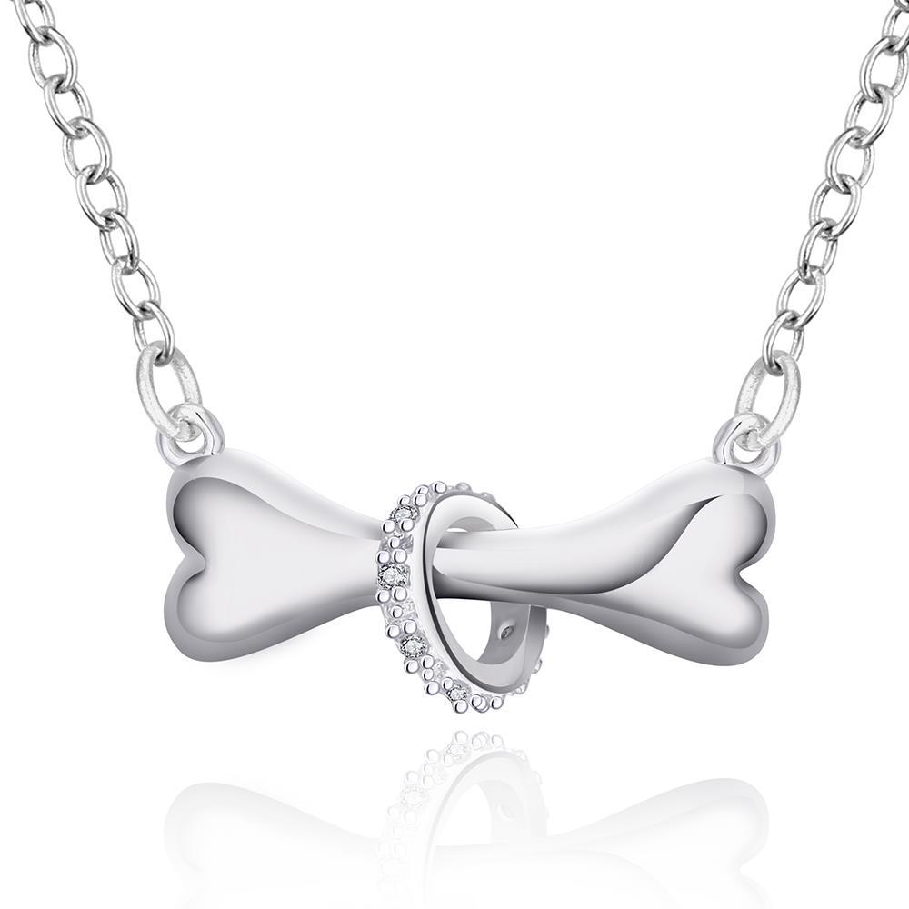Vienna Jewelry Sterling Silver Dog Treat Pendant Necklace
