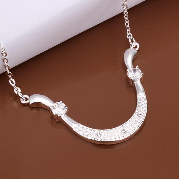 Vienna Jewelry Sterling Silver Drop Choker Necklace