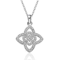 Vienna Jewelry Sterling Silver Multi Star Shaped Drop Necklace - Thumbnail 0