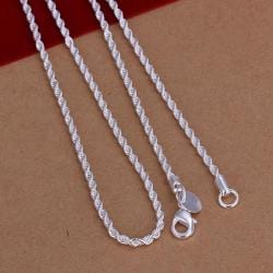Vienna Jewelry Sterling Silver Twisted Chain Necklace - Thumbnail 0