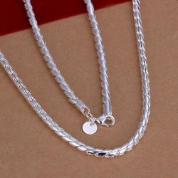 Vienna Jewelry Sterling Silver Petite Connecting Chain Necklace - Thumbnail 0