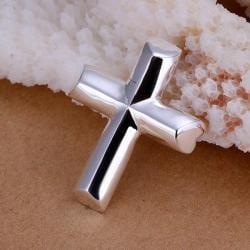 Vienna Jewelry Sterling Silver Sleek Modern Cross Pendant - Thumbnail 0