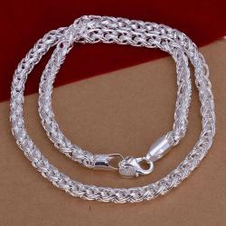 Vienna Jewelry Sterling Silver Connecting Chain Necklace - Thumbnail 0
