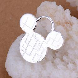 Vienna Jewelry Sterling Silver Classic Mouse Pendant - Thumbnail 0