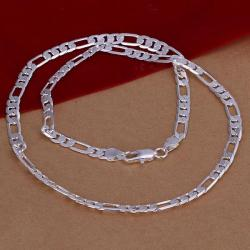 Vienna Jewelry Sterling Silver Thin Classic Chain Necklace - Thumbnail 0