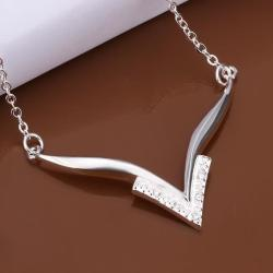Vienna Jewelry Sterling Silver Curved Choker Necklace - Thumbnail 0