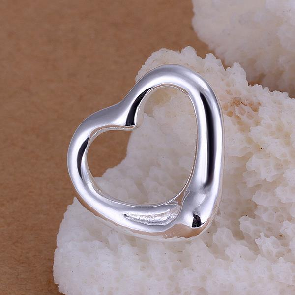 Vienna Jewelry Sterling Silver Petite Hollow Heart Pendant