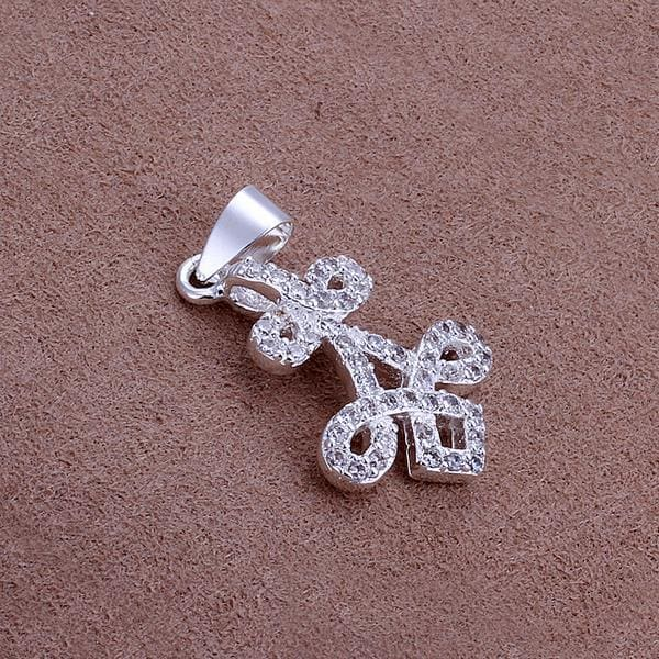 Vienna Jewelry Sterling Silver Tri-Clover Pendant